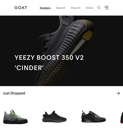 GOAT sneaker afterpay store